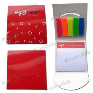 Набор с клеевым блоком и цветными закладками