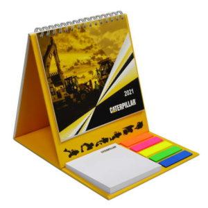 Календарь с клеевым блоком на пружине малый